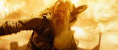 Dumbledore fighting the Zombie Inferi